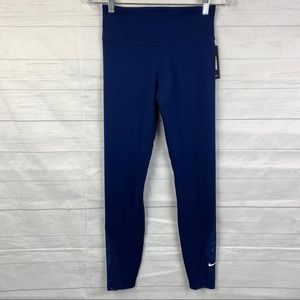 Women's Nike Navy Blue 7/8 Tights